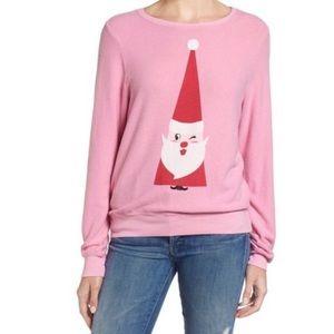 Wildfox Jingle Man Winking Santa Jumper Pullover